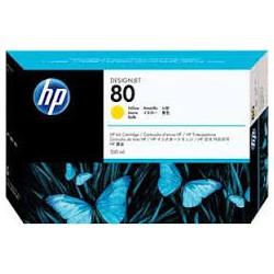 HP Ink C4848A No.80 Jaune 350ml pour traceur Designjet 1050C, 1055CM