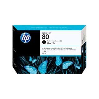 HP Ink C4871A No.80 Noir 350ml pour traceur Designjet 1050C, 1055CM