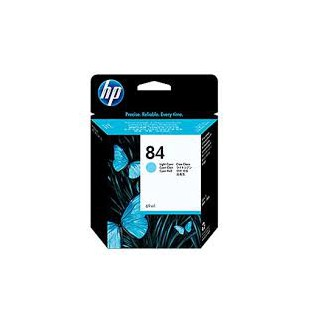 HP Ink C5017A No.84 Light-Cyan 69ml pour traceur Designjet 10, 20, 50 PS NS