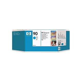 HP Ink C5061A No.90 Cyan 400ml pour traceur Designjet 4000