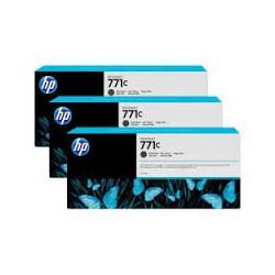 HP Ink B6Y31A No.771C Matte Noir 3 x 775ml pour traceur Designjet Z6200ps