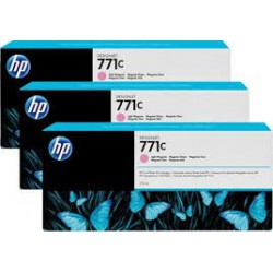 HP Ink B6Y35A No.771C Light Magenta 3 x 775ml pour traceur Designjet Z6200ps