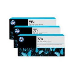 HP Ink B6Y37A No.771C Photo Noir 3 x 775ml pour traceur Designjet Z6200ps