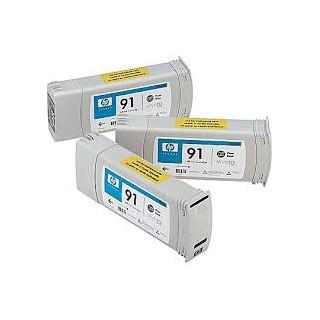 HP Ink C9480A No.91 Photo Noir 3 x 775ml pour traceur Designjet Z6100ps