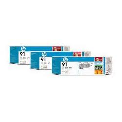 HP Ink C9482A No.91 Light Grey 3 x 775ml pour traceur Designjet Z6100ps