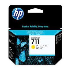 HP Ink CZ132A No.711 Jaune 29ml pour traceur Designjet T120, T520