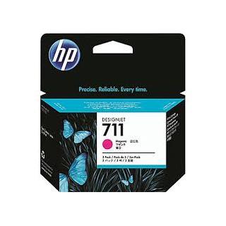 HP Ink CZ135A No.711 Magenta tri-pack 3 x 29ml pour traceur Designjet T120, T520