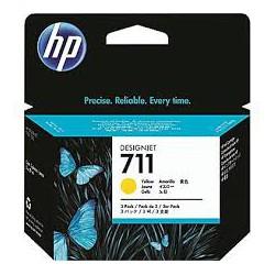 HP Ink CZ136A No.711 Jaune tri-pack 3 x 29ml pour traceur Designjet T120, T520