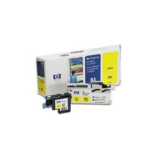 HP Tête d'impression C4953A Jaune No.81 pour traceur Designjet 5000