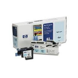 HP Tête d'impression C4954A Light Cyan No.81 pour traceur Designjet 5000