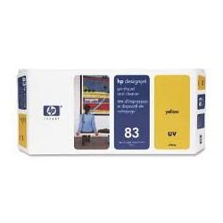 HP Tête d'impression C4963A Jaune No.83 + nettoyeur 680ml pour traceur Designjet 5000