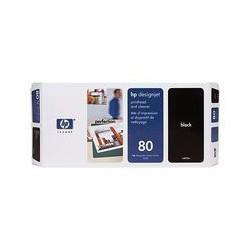 HP C4820A Tête d'impression Noir No.80 + nettoyeur pour traceur Designjet 1050c 1055cm
