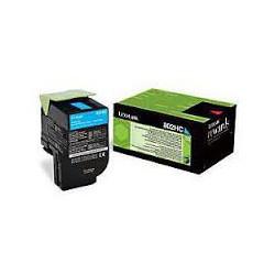 80C2HC0 Toner Cyan pour imprimante Lexmark CX 410, CX 510