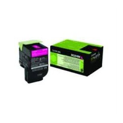 80C2HM0 Toner Magenta pour imprimante Lexmark CX 410, CX 510