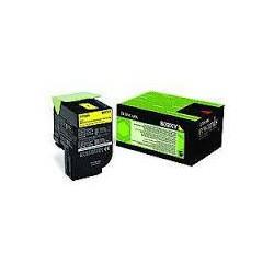 80C2XY0 Toner Jaune pour imprimante Lexmark CX510, CX510de, CX510dhe, CX510dthe