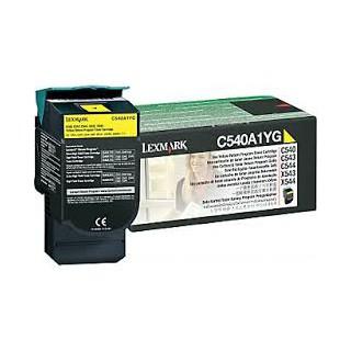 C540A1YG Toner Jaune pour imprimante Lexmark C540, C543, C544, C546, X543, X544