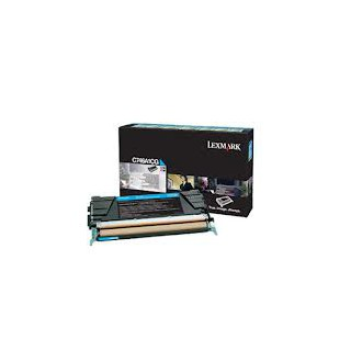 C734A1CG Toner Cyan pour imprimante Lexmark C734, C736, X734, X736, X738