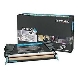 C736H1CG Toner Cyan 10k pour imprimante Lexmark C736DN, C736N, X736DTN, X736DE, X738DE