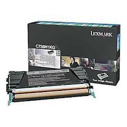 C736H1KG Toner Noir pour imprimante Lexmark C736DN, C736N, X736DTN, X736DE, X738DE