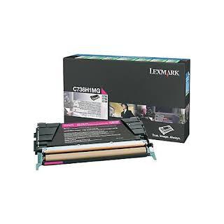 C736H1MG Toner Magenta 10k pour imprimante Lexmark C736DN, C736N, X736DTN, X736DE, X738DE