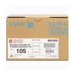 Cartouche de toner Ricoh Type 105 Cyan 888037 885409 275g pour copieur AP3800C. Aficio CL 7000