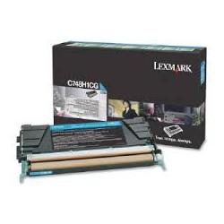 C748H1CG Toner Cyan pour imprimante Lexmark C748 de/dte/e