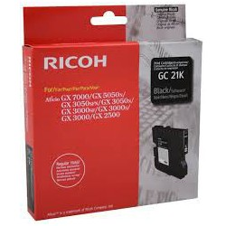 405532 Cartouche de toner Type GC21K Noir pour copieur Ricoh GX2500. GX3000. GX3050N. GX5050N. GX7000