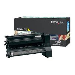 C780H1YG Toner Jaune 10k pour imprimante Lexmark C780, C782, X782E
