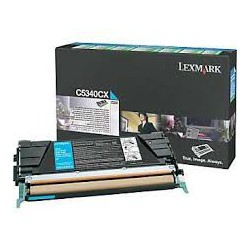 C5340CX Toner Cyan pour imprimante Lexmark C534n, C534dn, C534dtn