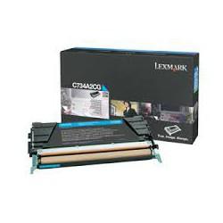 C734A2CG Toner Cyan 6k pour imprimante Lexmark C734, C736, X734, X736, X738