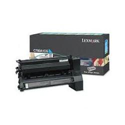 C780A1CG Toner Cyan pour imprimante Lexmark C780 C782 X782