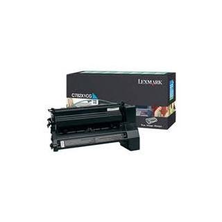 C782X1CG Toner Lexmark Cyan pour imprimante 15k C782