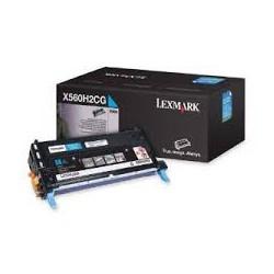 X560H2CG Toner Cyan 10k pour imprimante Lexmark X560n, X560dn