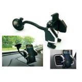 Support universel de téléphone mobile pour voiture avec ventouse