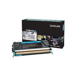 X748H1CG Toner Cyan Lexmark 10k pour imprimante X748