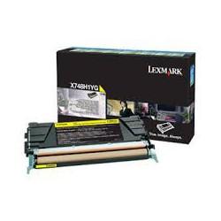 X748H1YG Toner Jaune pour imprimante Lexmark X748
