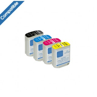Pack 4 Encres compatibles HP 10/82 pour Designjet 500 510 800 815 820