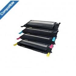 Pack 4 Cartouches laser compatibles SAMSUNG CLT-406S BK/C/M/Y