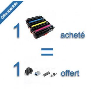 Pack 4 toners compatibles HP-304A + 1 kit roller CP2025 CM2320 gratuit
