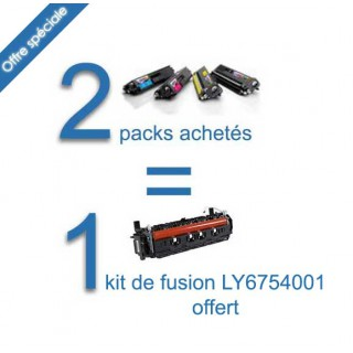 2 Jeux de 4 toners compatibles Brother TN241-245 BK/C/Y/M + 1 kit fusion Brother LY6754001 (LR2232001) gratuit