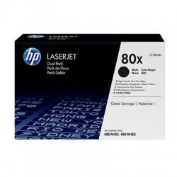 CF280XD Pack de 2 Toner Noir HP 80A imprimante HP Laserjet M401 M425