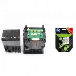 Tête CR324A  + 1 jeu de 4 cartouches d'encres originales HP 950-951 XL