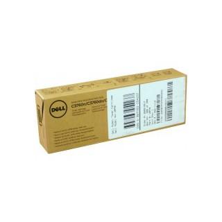 Cartouche de toner Dell C3760n Jaune 3k LC (593-11112) pour imprimante Dell C3760n, C3760dn, C3765dnf