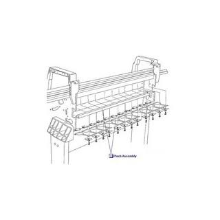 C6095-60181 Pinch Assembly A0 (60 pouces) imprimante HP Designjet 5000 5000UV 5000PS 5000PSUV 5500 5500UV