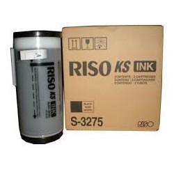 Encre Riso (S-3275) Noir VE 2 unités pour KS 800