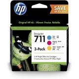 P2V32A - 3 Cartouche d'encre HP Office Bright Jaune, Cyan, Magenta (3x29ml) - Imprimante HP DesignJet T520 / T120