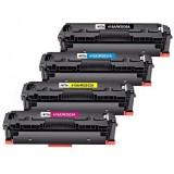 Pack de 4 cartouches toners compatibles HP 415A Noir, Cyan, Jaune, Magenta