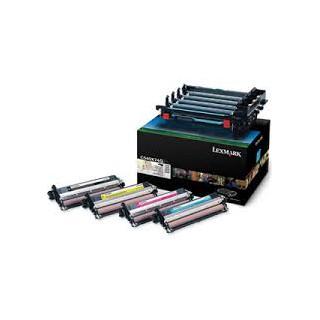 C540X74G Tambour Noir et couleur (Cyan, Jaune, Magenta) pour Lexmark C540/543/544/546 X543/544/546