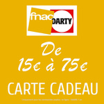 Carte cadeau Fnac-Darty